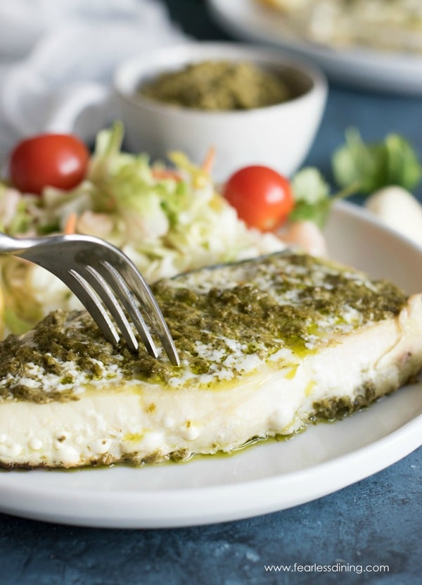Pesto Grilled Halibut