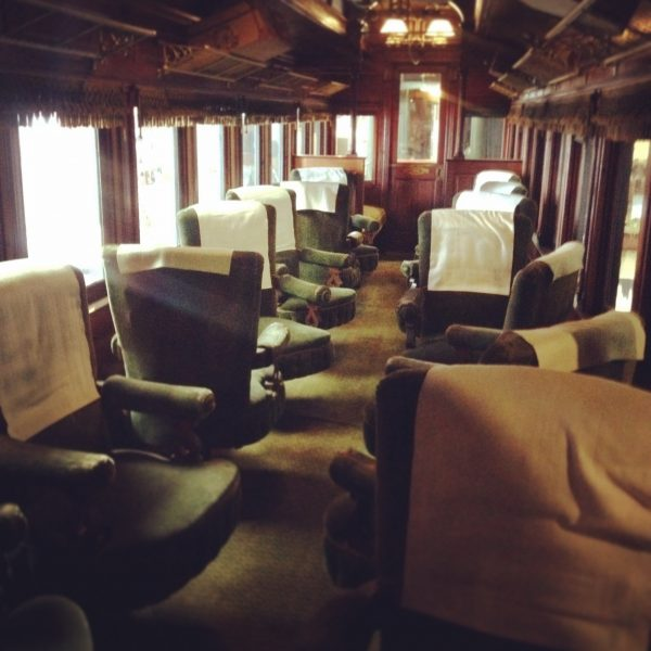An old parlor car on the Maine Narrow Gauge Railway