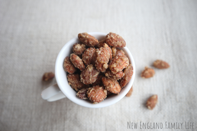 Traditional brown sugar candied almonds Christmas recipe