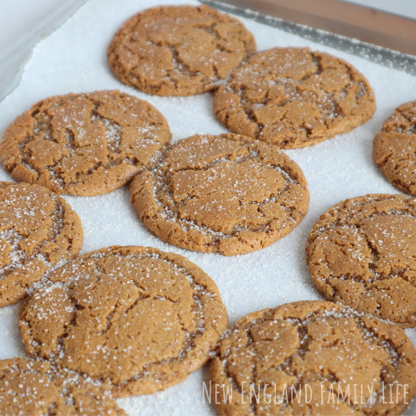 Einkorn old fashioned molasses crinkles